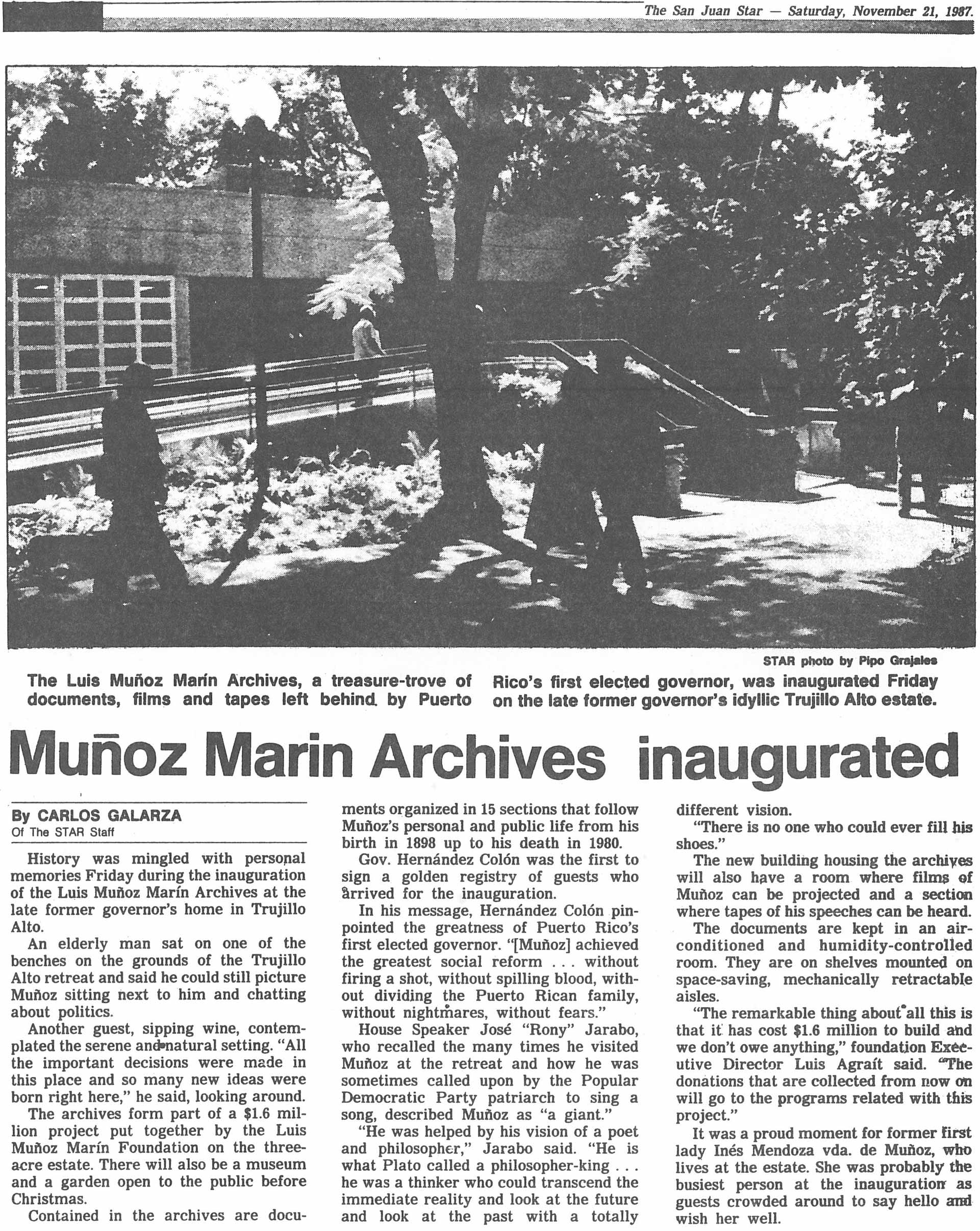 Noticia inauguración Archivo